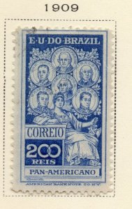 Brazil 1909 Early Issue Fine Mint Hinged 200r. NW-12031