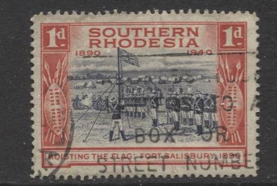 Southern Rhodesia- Scott 57- Fort Salisbury -1940 - FU - Single 1d Stamp