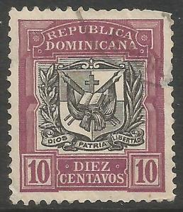 DOMINICAN REPUBLIC 176 VFU ARMS Z3597-2