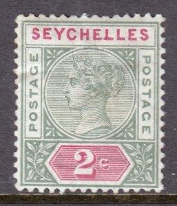 Seychelles - Scott #1a - MH - Crease, toning - SCV $6.50
