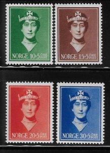 Norway 1939 Queen Maud Sc B11-B14 MNH A1810