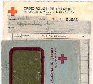 Belgium *RED CROSS* Window Cover 1946 ORIGINAL CONTENTS Switzerland Geneva HH42