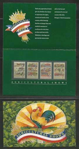 Australia MNH sc# 1019-22 Agricultural Shows Presentation Pack Rooster