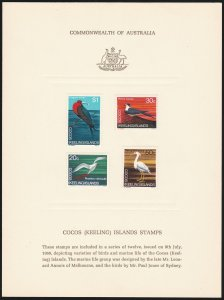 COCOS (KEELING) ISLANDS : 1969 Pictorial Def set on PO Official Publicity Cards.