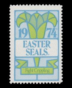 USA CINDERELLA STAMP. EASTER SEAL 1974. UNUSED. # 36
