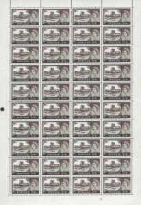 1963 2/6 Bradbury/Wilkinson Crowns castle Cyl 9a ord FULL SHEET UNMOUNTED MINT