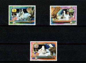 AITUTAKI - 1989 - SPACE - APOLLO 11 - MOON LANDING - EAGLE - FLAG  MINT MNH SET!