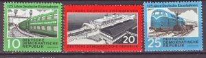 J22275 Jlstamps 1960 germany ddr set mnh #529-31 trains