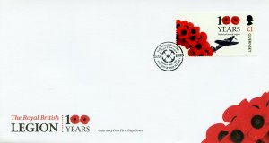 Guernsey Military Stamps 2021 FDC Royal British Legion Part 2 Aviation 1v Set