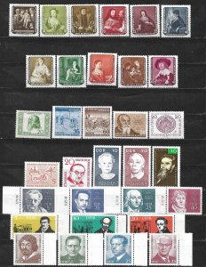COLLECTION LOT OF 32 GERMANY EAST MNH 1955 STAMPS  CV + $ 26