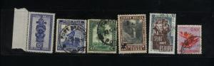 Belgian Congo  6 different Mint and used  PD