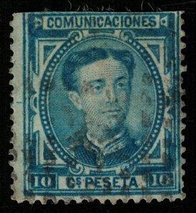 King Alonso XII, 1876, INSCRIPTION COMUNICACIONES 10 Cs. Peseta, (Т-4583)