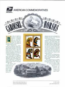 US CP467 Carousel Horses 2979a Commemorative Panel Mint