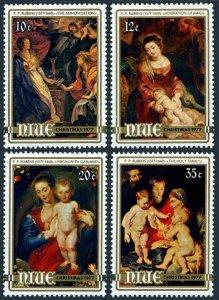 Niue 199-202,202a sheet,MNH.Mi 189-192,Bl.2. Christmas-1977.Peter Paul Rubens.
