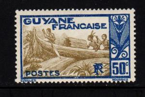 French Guiana - #124 Shooting Rapids - MNH