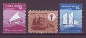 J21092 Jlstamps 1980 indonesia mh set #1067-9 ships