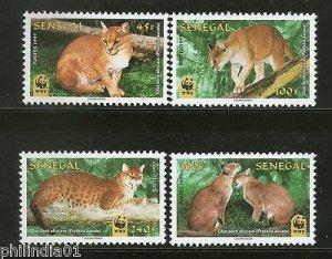 Senegal 1997 WWF African Golden Cats Wildlife Animals Fauna Sc 1294-97 MNH # 229