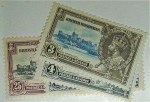 British Honduras, Postage Stamp, #108-111 Mint Never Hinged MNH KGV, 1935