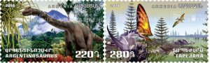 ARMENIA/2018 - Flora and Fauna of the Ancient World (Dinosaurs), MNH