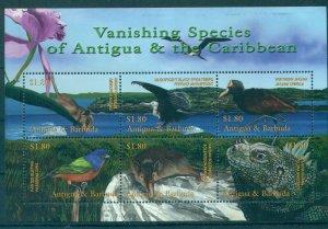 Antigua - Sc# 2503. Birds Widlife Mini Sheet. MNH. $8.00.