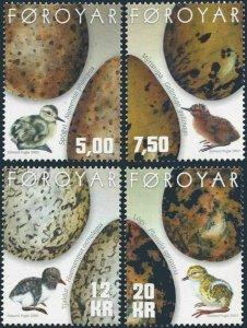 Faroe Islands 2002 #418-21 MNH. Eggs and chicks