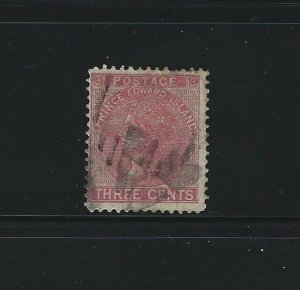 PRINCE EDWARD ISLAND - #13 - 3c QUEEN VICTORIA USED STAMP