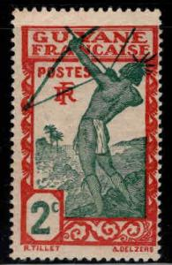 French Guiana Scott 110 MH* stamp expect similar centering