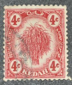 DYNAMITE Stamps: Malaya Kedah Scott #28 – USED