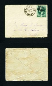 # 147 on cover from Worcester, Massachusetts to Leeds, MA dated 12-16-1870's