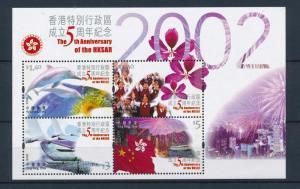 [48142] Hong Kong 2002 Marine life Dolphins Children Birds Flags MNH Sheet