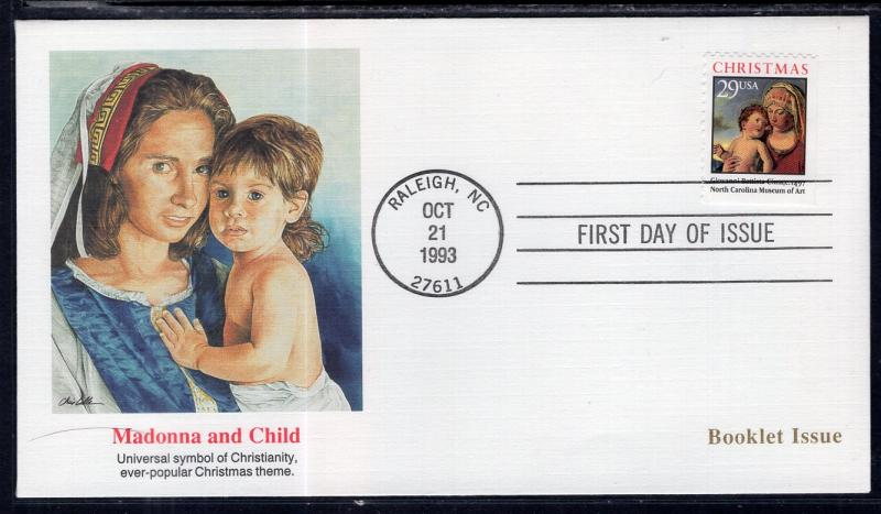US 2790 Christmas Madonna Booklet Single Fleetwood U/A FDC