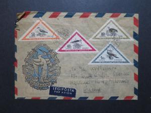 Hungary 1952 Bird Series on Cover to USA / Left Corner Damage - Z8663