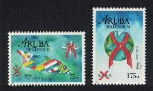 Aruba America AIDS Awareness 2v SG#259-260