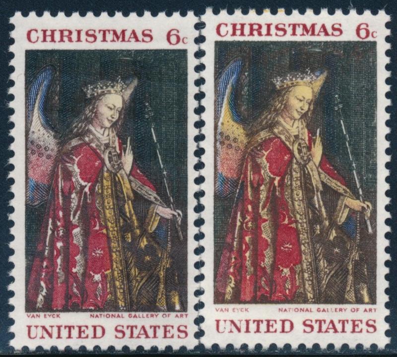 #1363c 6¢ CHRISTMAS YELLOW (LITHO) OMITTED MAJOR ERROR BQ7678