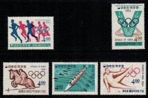 South Korea  449 - 453   MNH $  15.00