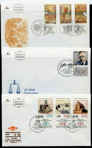 ISRAEL LOT OF 30 1986/1987  FIRST DAY COVERS