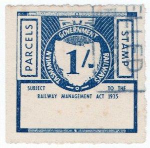 (I.B) Australia - Tasmania Railways : Parcels Stamp 1/-