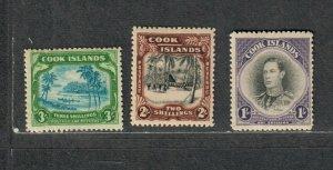 Cook Islands Sc#112-114 M/NH/VF, Cv. $90