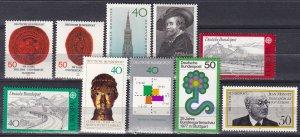 Germany #1244-53 MNH  CV $6.85