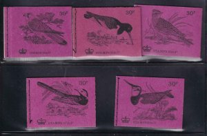 GB BK # 134 VF-MNH 5 DIFFERENT COVERS BOOKLETS PO FRESH CAT VALUE $28+