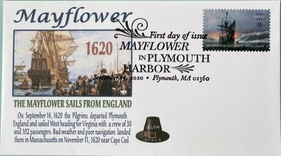 AFDCS 5524 Mayflower Plymouth Harbor Mayflower sails from England to Virginia