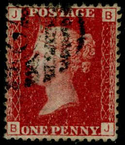 SG43, 1d rose-red plate 119, FINE USED. BJ