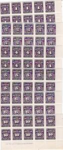 Canada #'s J15,J16,J17,J18,J19 & J20 Plate# Blks of 10 with Imprint- Mint - N.H.
