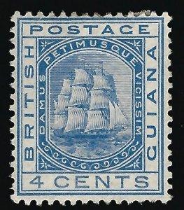 British Guiana #109 SG 172 Mint F-VF hr ...Fill a Key British Colony spot!