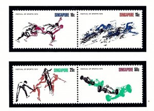 Singapore 122-5 MNH 1970 Festival of Sports
