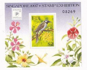 FIJI 1997 STAMP BIRDS,FLOWERS S/SHEET. MNH