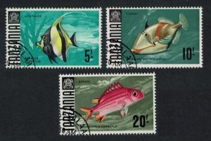 Tanzania Fish 3v the Highest Values CTO SG#155-157 SC#32-34 MI#32-34 CV£10+