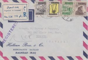 Iraq 3f Gufas on the Tigris, 4f Rams Head Harp, 40f Baghdad University and 50...