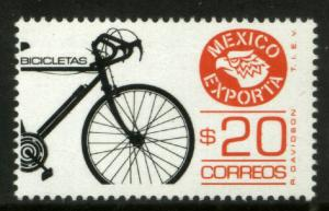 MEXICO Exporta 1492 $20P Bicycles Fluor Paper 8. MINT, NH. F-VF.