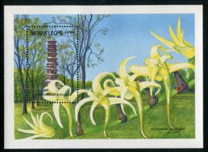 Sierra Leone 1086, MNH, Flowers Orchids. x1764